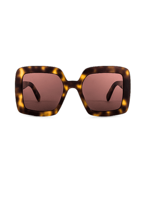 Courreges The Panda Oversized Square in Brown.