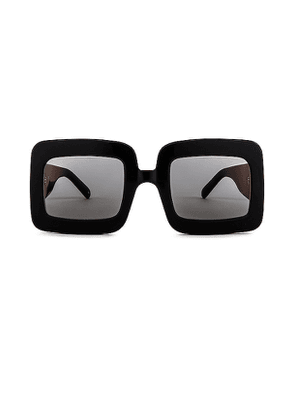Courreges The Panda Rectangle in Black.
