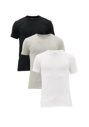 Polo Ralph Lauren - Pack Of Three Logo-embroidered Cotton T-shirts - Mens - Multi