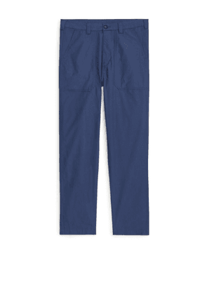 Cotton Ripstop Trousers - Blue