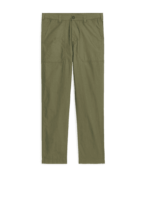 Cotton Ripstop Trousers - Green