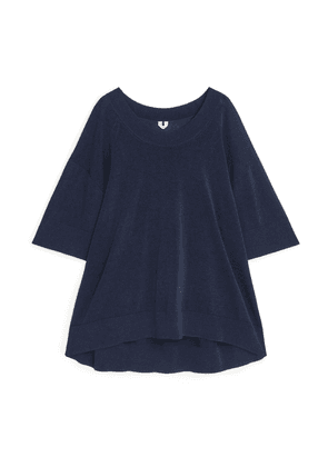 Oversized Knitted Top - Blue