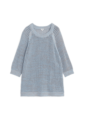 Oversized Knitted Tunic - Blue