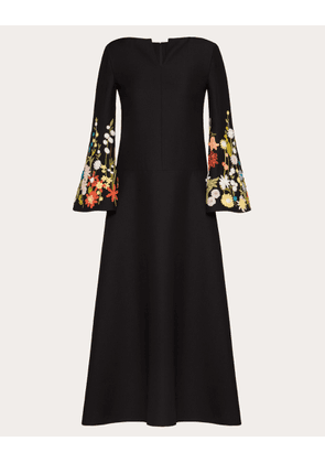 Valentino Embroidered Crepe Couture Dress Women Multicoloured Virgin Wool 65%, Silk 35% 38