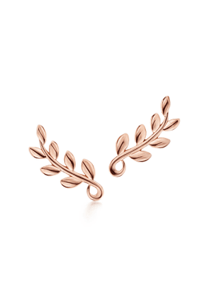 Paloma Picasso® Olive Leaf climber earrings in 18k rose gold
