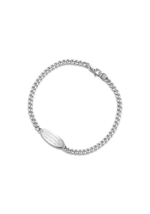 Return to Tiffany™ oval ID bracelet in silver with diamonds, extra small