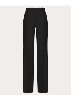 Valentino Wool And Mohair-blend Trousers Women Black Mohair 47% 42