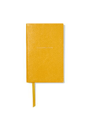 Smythson Panama Culture Club Textured-leather Notebook Woman Yellow Size --