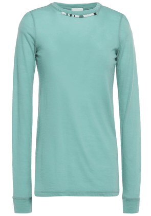 Forte_forte Bead-embellished Jersey Top Woman Mint Size 2