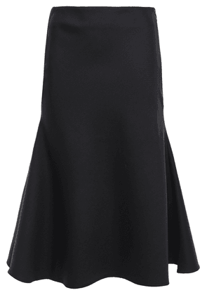 Anna Quan Lindal Fluted Wool-twill Skirt Woman Black Size 12
