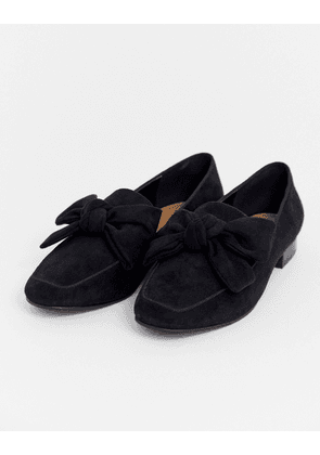 ASOS DESIGN My Girl Bow Loafers in black