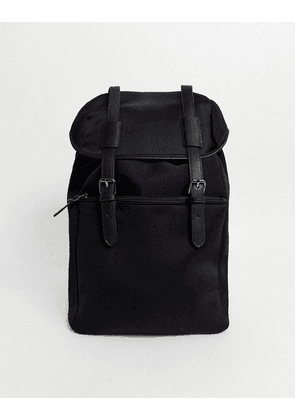 ASOS DESIGN backpack in black scuba with double straps