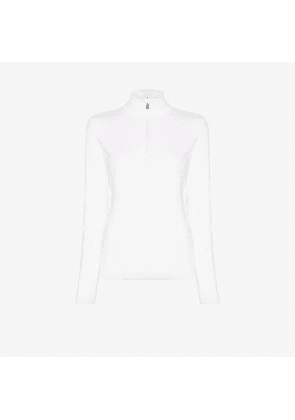 Bogner Womens White Slim-fit Ski Base Layer Top