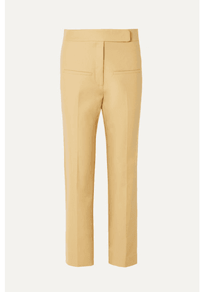 Khaite - Coco Cropped Cotton-twill Straight-leg Pants - Sand