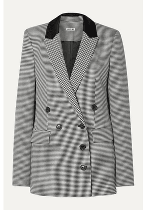 Jason Wu - Double-breasted Houndstooth Woven Blazer - Black