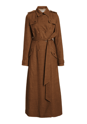 Gabriela Hearst Casatt Cashmere Corduroy Double-Breasted Trench Coat