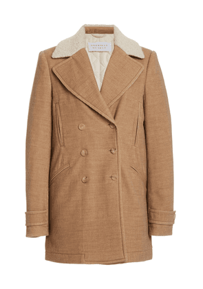 Gabriela Hearst Dylan Cashmere Corduroy Double-Breasted Peacoat