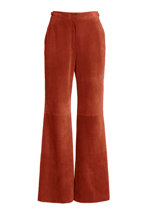 Gabriela Hearst Vesta Suede Flared Trousers