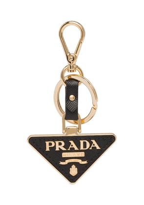 Prada triangular logo keyring - Black