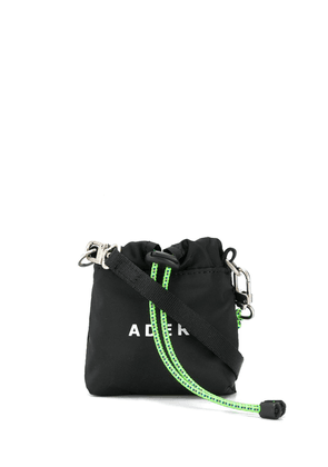 Ader Error logo print shoulder bag - Black