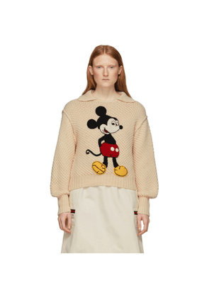 Gucci Off-White Disney Edition Wool Mickey Mouse Sweater