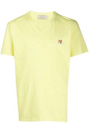 Maison Kitsuné logo patch crewneck T-shirt - Yellow