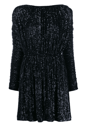 Saint Laurent sequin embellished dress - Blue
