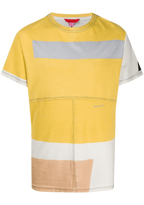 Eckhaus Latta colour-block T-shirt - Yellow