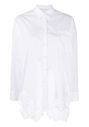 Ermanno Scervino lace hem shirt - White
