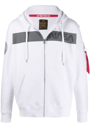 Alpha Industries Nasa print hoodie - White