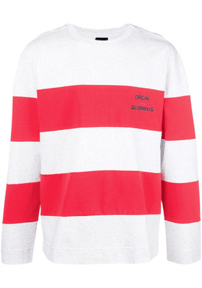Juun.J loose-fit striped sweatshirt - Red