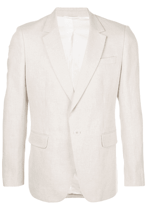 Ann Demeulemeester single-breasted slim-fit blazer - NEUTRALS