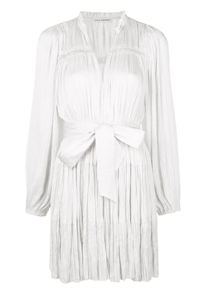 Ulla Johnson pleated belted dress - White