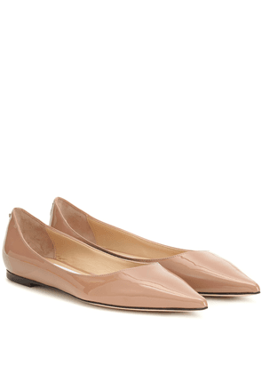 Love Flat patent leather ballet flats