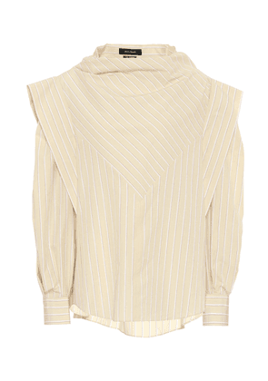 Welly striped cotton and silk blouse