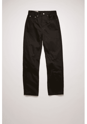 Acne Studios Mece Stay Black Black Cropped straight fit jeans