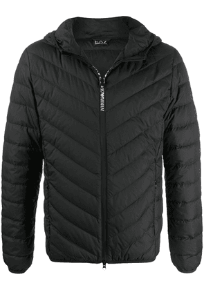 Ea7 Emporio Armani padded hooded jacket - Black