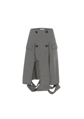 Deconstructed houndstooth midi skirt