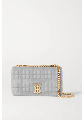 Burberry - Small Quilted Leather Shoulder Bag - Gray