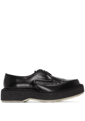 Adieu Paris embroidered Derby shoes - Black