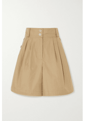 See By Chloé - Button-detailed Cotton-twill Shorts - Beige