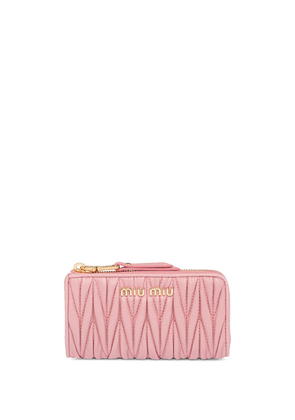 Miu Miu matelassé key holder - PINK