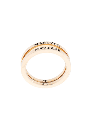 MARTYRE logo-engraved double band ring - GOLD