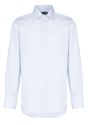 Tom Ford striped button-up shirt - Blue