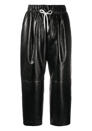 Givenchy straight-leg leather trousers - Black