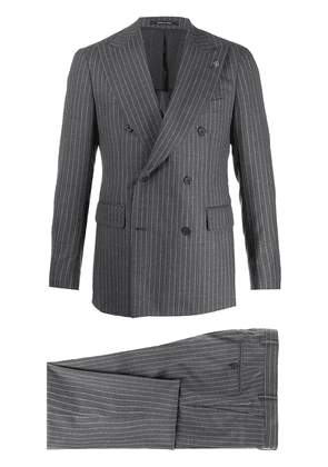 Tagliatore pinstripe two piece suit - Grey