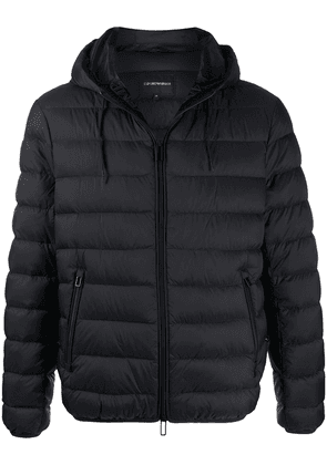 Emporio Armani padded hooded jacket - Black