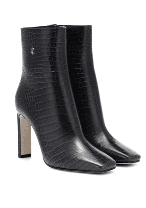 Minori 100 mock-croc leather boots