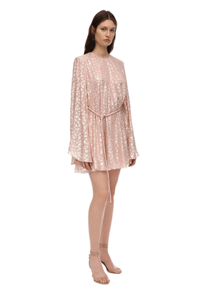 Silk & Lurex Jacquard Mini Dress