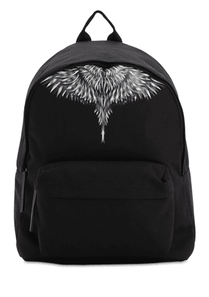 Wings Print Tech Canvas Backpack
